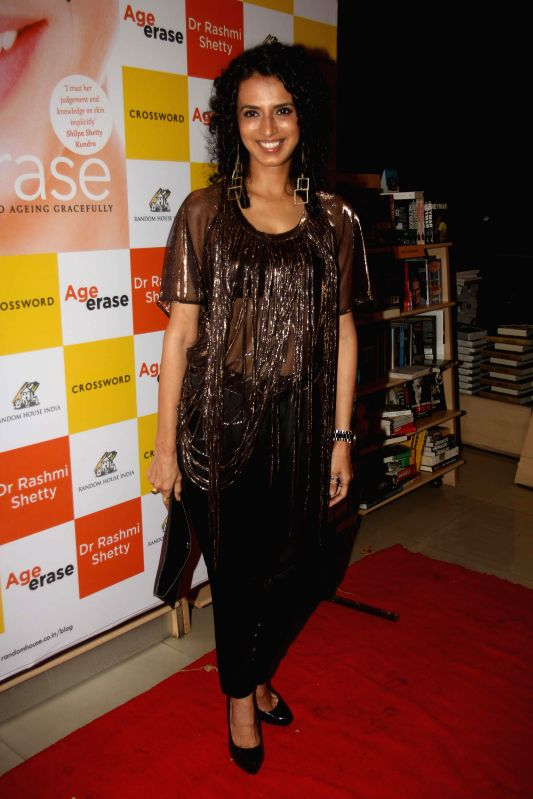 Fashion designer Aparna Badlani during the launch of Dr Rashmi Shetty's book Age Erase in Mumbai on July 11, 2014.