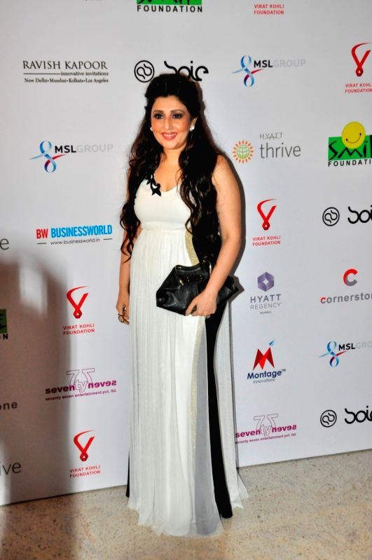 Fashion designer Archana Kochhar during the charity dinner hosted by Virat Kohli foundation in association with Smile Foundation, in Mumbai, on June 3, 2016. - Virat Kohli