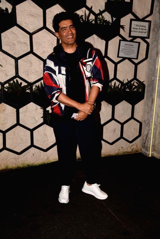 Fashion designer Manish Malhotra at the producer Dinesh Vijan birthday celebration in Mumbai on July 26, 2018. - Manish Malhotra