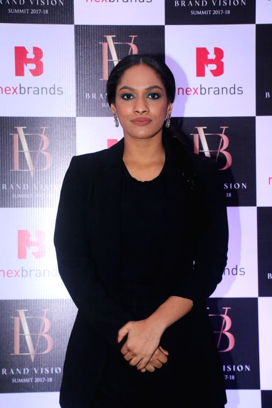 Fashion designer Masaba Gupta at the Brand Vision Summit and Awards in Mumbai on Jan 30, 2018. - Masaba Gupta
