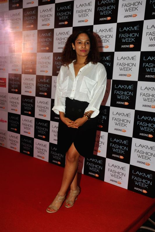 Fashion designer Masaba Gupta during Lakme Fashion Week curtain-raiser in Mumbai on July 28, 2014. - Masaba Gupta