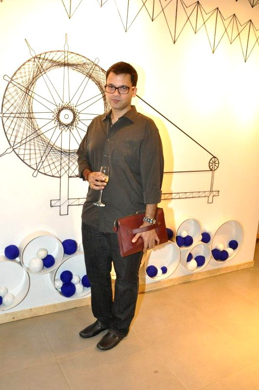 Fashion designer Nachiket Barve during the preview and launch of Khadi Collection by Levis, in Mumbai, on Aug. 26, 2014.