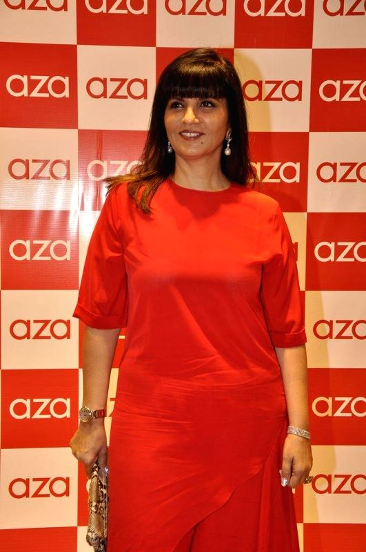 Fashion designer Neeta Lulla during the launch of Aza store in Mumbai, on Aug 28, 2014.