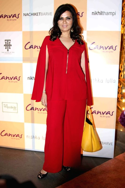 Fashion designer Neeta Lulla during the launch of jewellery brand, Canvas by Jet Gems in Mumbai on Dec 3, 2015.