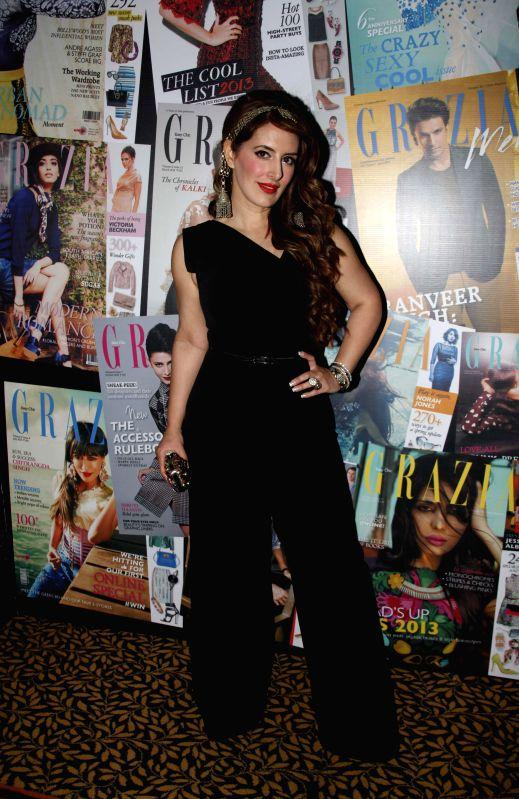 Fashion designer Pria Kataria Puri at Grazia Young Fashion Awards 2014 in Mumbai on 13th April 2014.