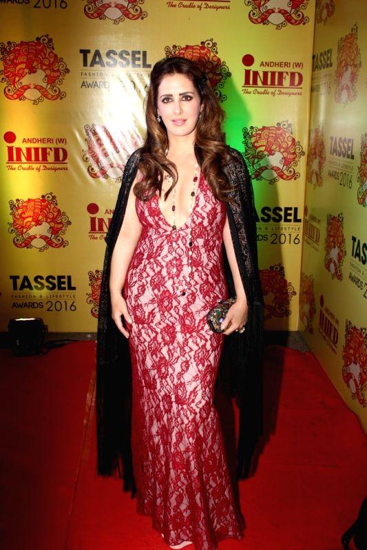 Fashion designer Pria Kataria Puri during the Tassel Fashion & Lifestyle Awards 2016, in Mumbai, on May 8, 2016.
