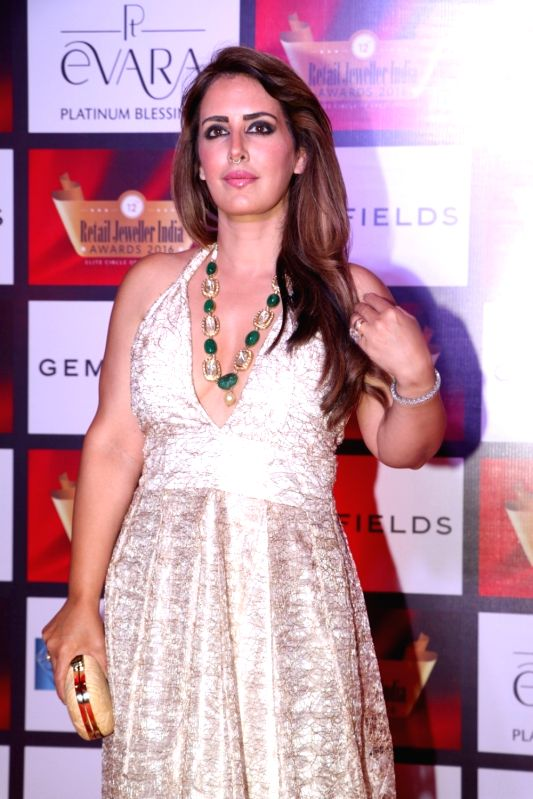 Fashion designer Pria Kataria Puri during the 12th Gemfields Retail Jeweller India Awards 2016, in Mumbai, on August 6, 2016.