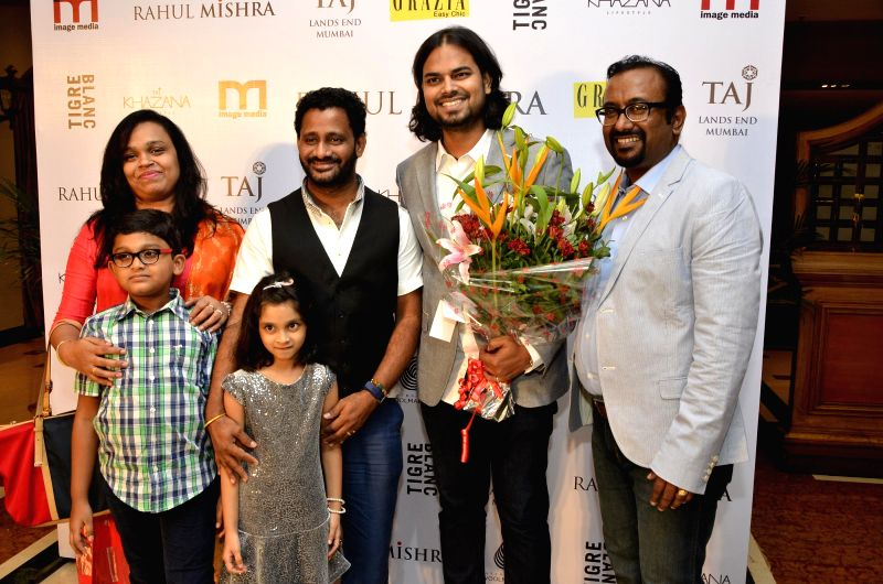 Fashion designer Rahul Mishra celebrates his six years in fashion industry with Grazia at Taj Lands End, in Mumbai on 27, 2014.