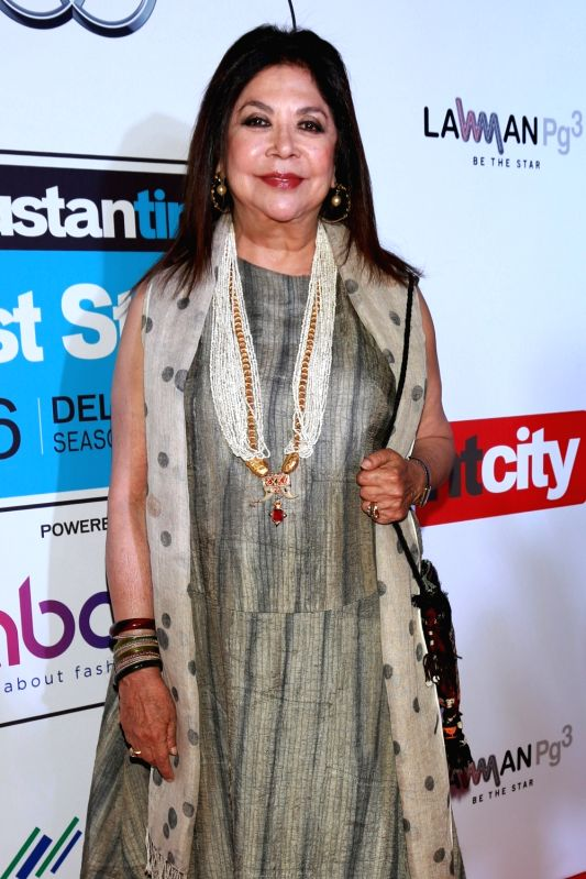 Fashion Designer Ritu Kumar during red carpet of Hindustan Times Most Stylish 2016, in New Delhi on May 24, 2016. - Designer Ritu Kumar