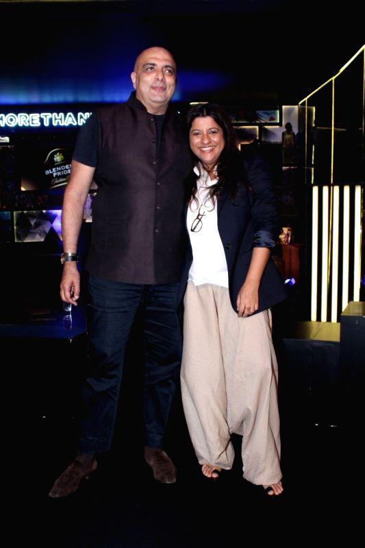 "Fashion Designer Tarun Tahiliani and Director Zoya Akhtar during the ""Blenders Pride Fashion Tour 2017"" in Mumbai on Oct 5, 2017."