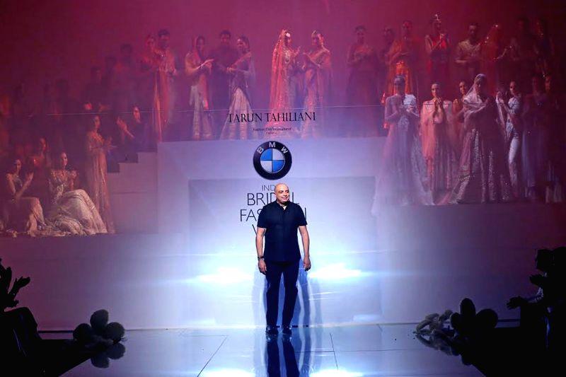 Fashion designer Tarun Tahiliani during  `BMW India Bridal Fashion Week 2014` in New Delhi on Aug 7, 2014.