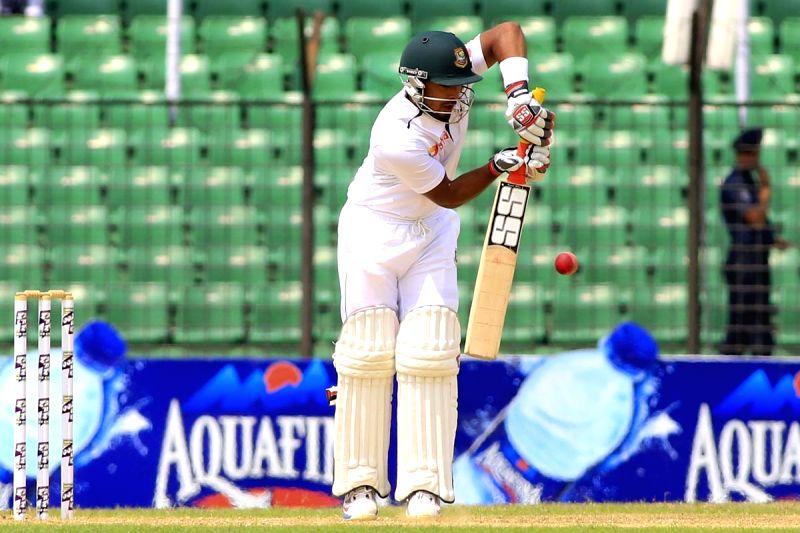 Fatullah (Bangladesh): Bangladesh player Litton Das  in action during the last day of the lone test match between India and Bangladesh at Khan Shaheb Osman Ali Stadium in Fatullah, Bangladesh on ...