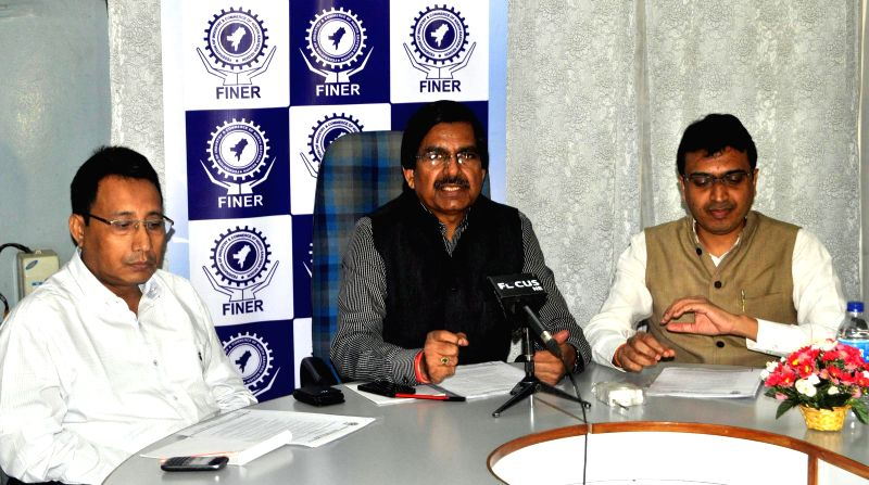 Federation of Industry and Commerce of North Eastern Region (FINER) chairman R. S. Joshi during a press conference in Guwahati on May 9, 2014. - R. S. Joshi