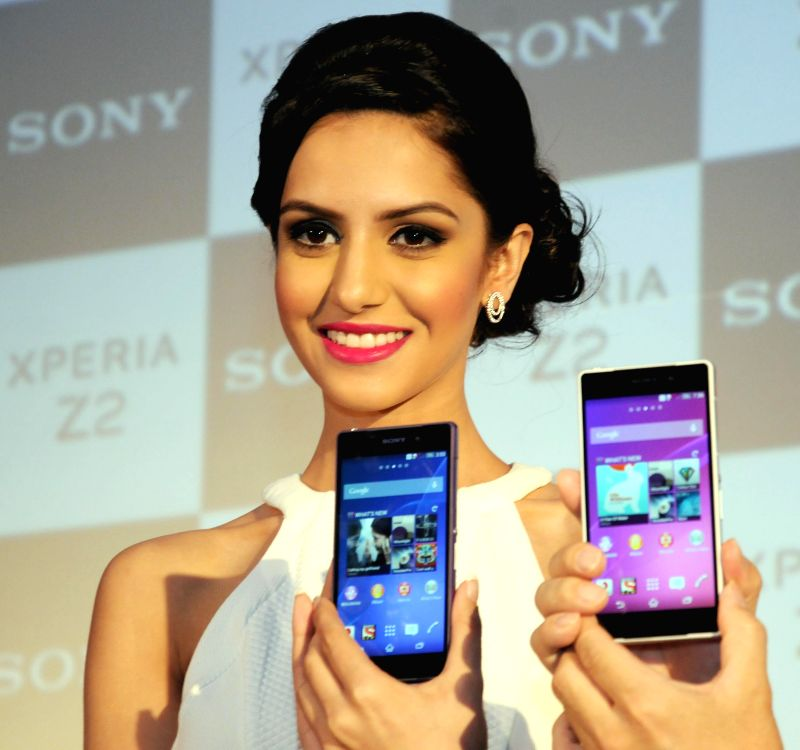 Femina Miss India World 2014 Koyal Rana during launch of Sony 'Xperia Z2' Smartphone in New Delhi on  May 8, 2014.