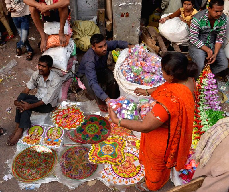 Festive Shopping On Its Peak At Sadar Bazar Ahead Of Diwali