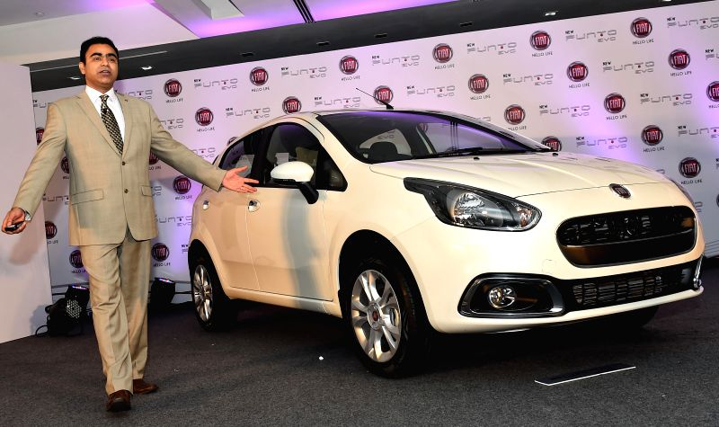 FIAT Chrysler India President and Managing Director Nagesh Basavanhalli launches Punto Evo in Chennai on Aug 6, 2014.