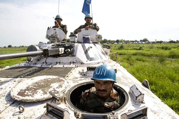 Fie picture of Indian peacekeepers serving with the UN Mission in South Sudan (UNMISS) on patrol in Pibor, Jonglei State, in 2013. (Photo credit: UN/via IANS)