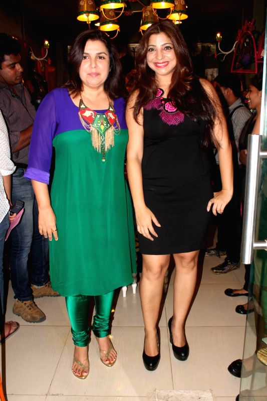Film director and choreographer Farah Khan at the opening of Fluke Store at Andheri, Mumbai. - Farah Khan