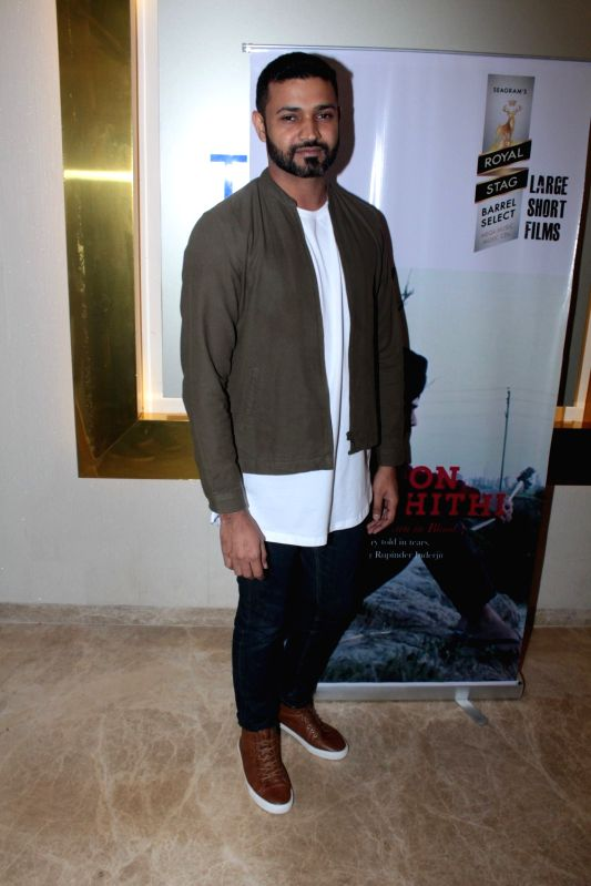Film writer Rupinder Inderjit during the screening of Punjabi short film Khoon Aali Chithi in Mumbai on April 24, 2017.