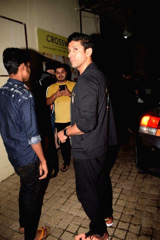 Filmmaker-actor Farhan Akhtar seen at a cinema theatre in Juhu, Mumbai on July 27, 2018. - Farhan Akhtar