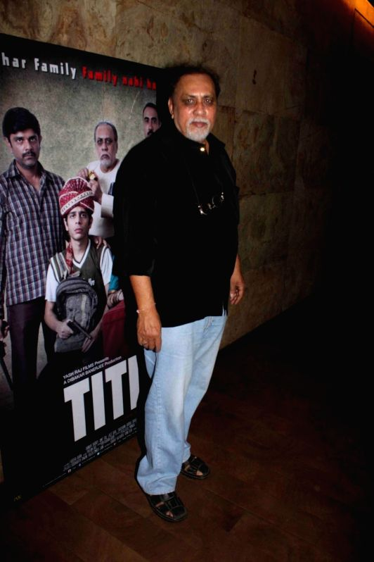 Filmmaker and actor Lalit Behl during a special screening of film Titli in Mumbai, on Oct 28, 2015. - Lalit Behl