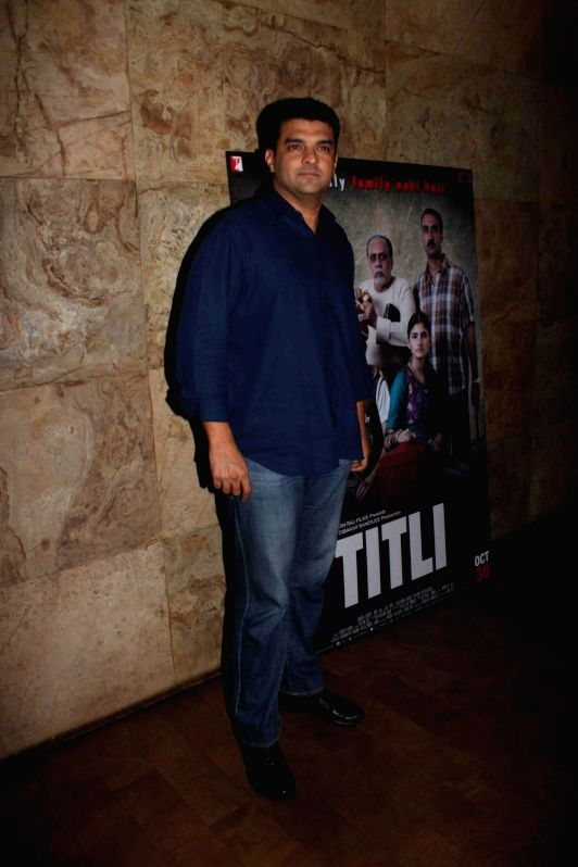 Filmmaker and Disney India, MD Siddharth Roy Kapur during a special screening of film Titli in Mumbai, on Oct 28, 2015. - Siddharth Roy Kapur