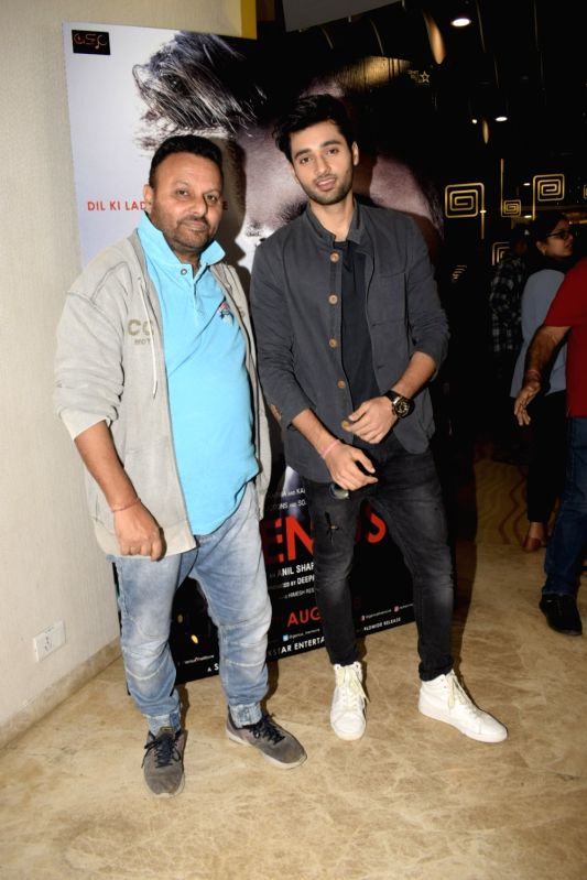 "Filmmaker Anil Sharma and actor Utkarsh Sharma at the trailer launch of upcoming film ""Genius"" in Mumbai, on July 24, 2018. - Anil Sharma and Utkarsh Sharma"