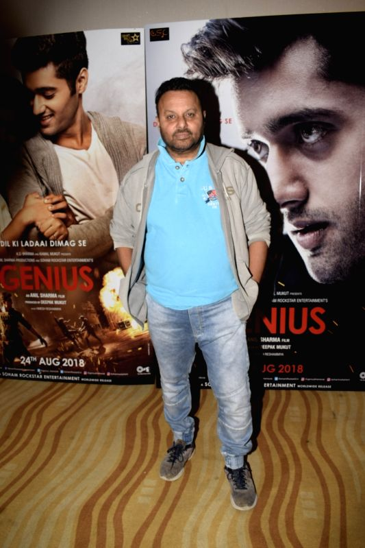 "Filmmaker Anil Sharma at the trailer launch of upcoming film ""Genius"" in Mumbai, on July 24, 2018. - Anil Sharma"