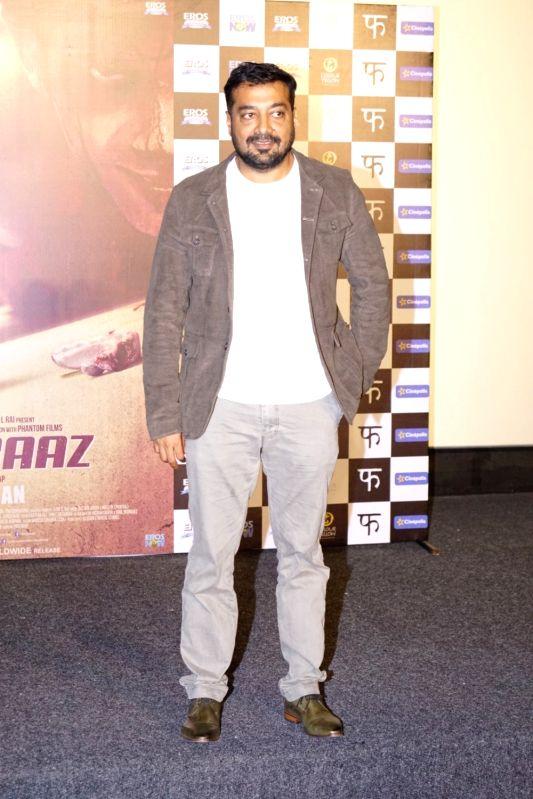 "Filmmaker Anurag Kashyap at the trailer launch of his upcoming film ""Mukkabaaz"" in Mumbai on Dec 7, 2017. - Anurag Kashyap"