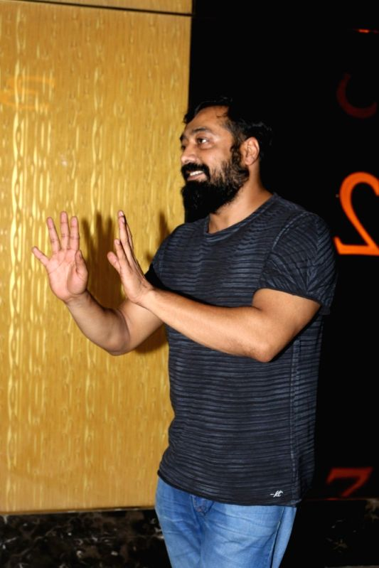 "Filmmaker Anurag Kashyap during the special screening of Fr​e​nch film ""Felicite"" in Mumbai on April 26, 2017. ​""Felicite"" was released in February 2017.​ - Anurag Kashyap"