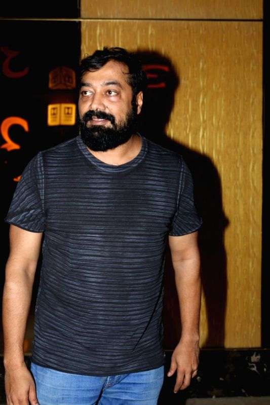 "Filmmaker Anurag Kashyap during the special screening of Fr​e​nch film ""Felicite"" in Mumbai on April 26, 2017.​ ""Felicite"" stars Véro Tshanda Beya Mputu and has ... - Anurag Kashyap"