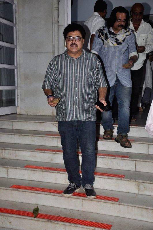 Filmmaker Ashok Pandit during the condolence meet of filmmaker Dharmesh Tiwari in Mumbai, on August 9, 2014. - Ashok Pandit