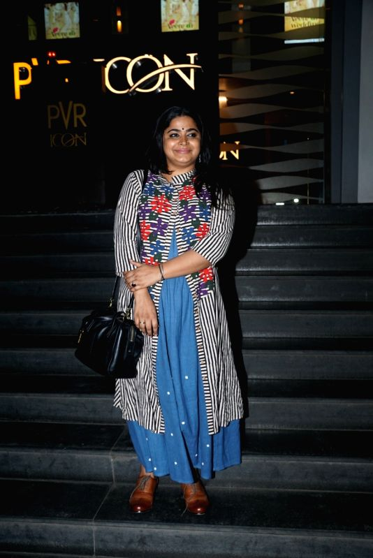 "Filmmaker Ashwiny Iyer Tiwari at the special screening of upcoming film ""Veere Di Wedding"", in Mumbai on May 30, 2018.(Image Source: IANS)"