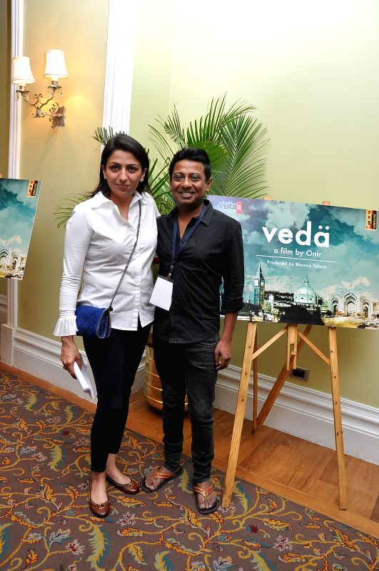 Filmmaker Bhavna Talwar along with director of `Veda` Onir during the muhurat of Vistaar Film Fund`s and WSG Picture latest film Veda, in Mumbai, on Aug. 26, 2014. - Bhavna Talwar