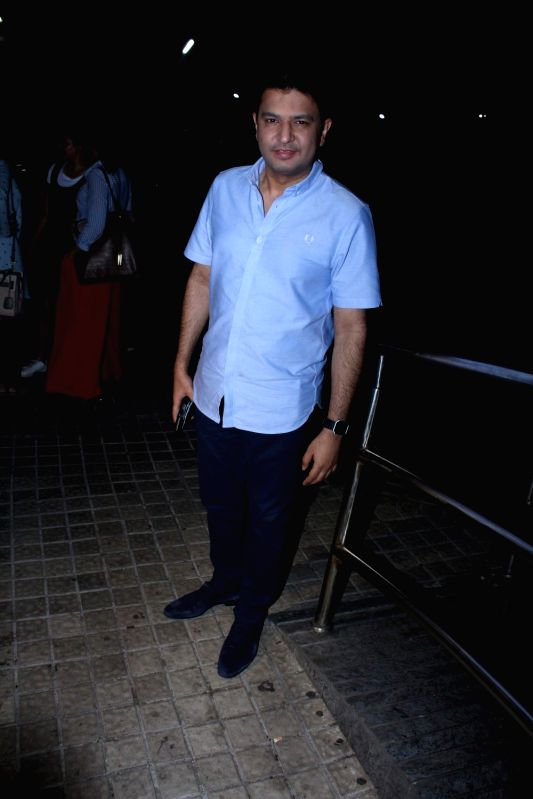 Filmmaker Bhushan Kumar during the screening of film Hindi Medium in Mumbai on May 18, 2017. - Bhushan Kumar