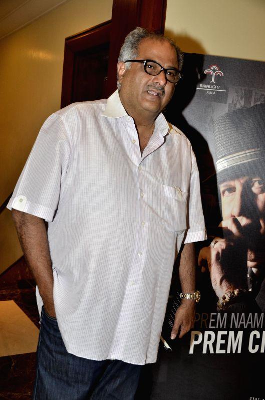 Filmmaker Boney Kapoor during the launch of Prem Chopra's autobiography, Prem Naam Hai Mera.. Prem Chopra, written by Rakita Nanda at JW Marriott in Mumbai on April 12, 2014. - Boney Kapoor
