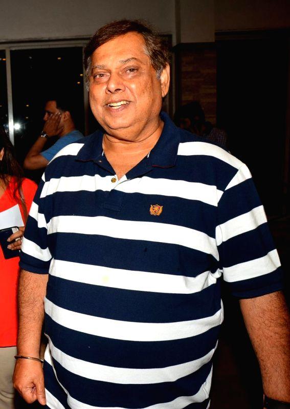 Filmmaker David Dhawan at AGP play Barff by Saurabh Shukla in Mumbai on April 17, 2016.