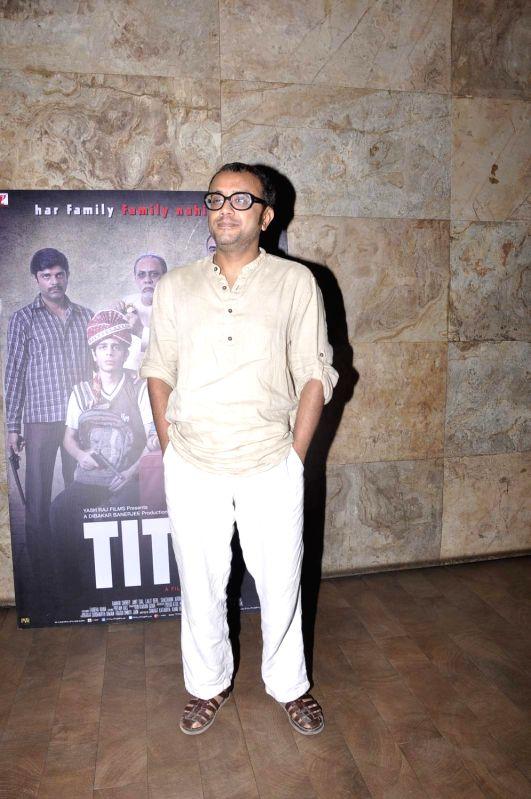 Filmmaker Dibakar Banerjee during the screening of film Titli, in Mumbai, on Oct 27, 2015. - Dibakar Banerjee