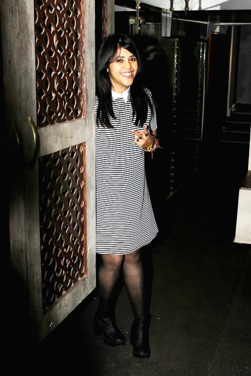 Filmmaker Ekta Kapoor celebrated her 42nd birthday with few of her close friends and family, in Mumbai on June 7, 2017. - Ekta Kapoor