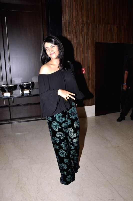Filmmaker Ekta Kapoor during the media interaction of new Sony TV serial Pyaar Ko Ho Jaane Do in Mumbai, on Oct 30, 2015. - Ekta Kapoor