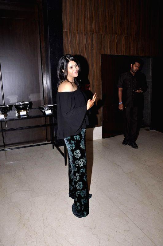 Filmmaker Ekta Kapoor during the media interaction of new Sony TV serial Pyaar Ko Ho Jaane Do in Mumbai, on Oct 30, 2015. - Ekta Kapoor