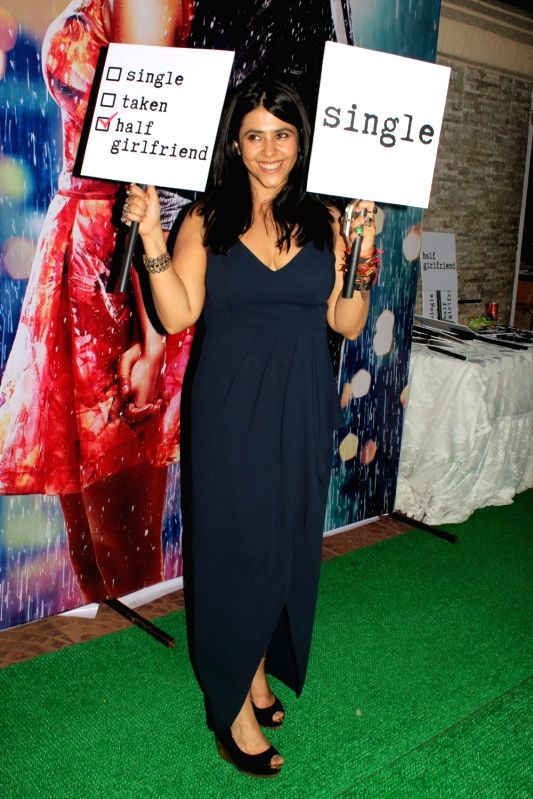 Filmmaker Ekta Kapoor during the success party of film Half Girlfriend in Mumbai on May 26, 2017. - Ekta Kapoor