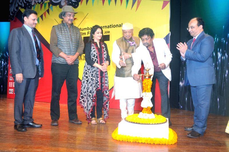 Filmmaker Goutam Ghose and other dignitaries inaugurate 15th Mumbai International Film Festival 2018 (documentary, short film and animation) in Mumbai on Jan 28, 2018. - Goutam Ghose