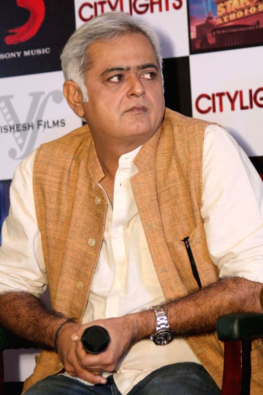 Filmmaker Hansal Mehta during a press conference to promote his upcoming film 'Citylights' in New Delhi on May 2, 2014. - Hansal Mehta