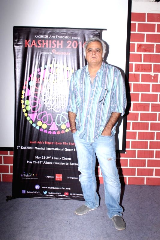 Filmmaker Hansal Mehta during Kashish film festival 2016 press conference , in Mumbai on May 17, 2016. - Hansal Mehta