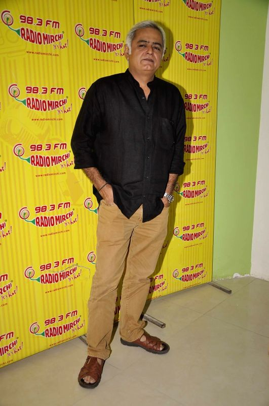 Filmmaker Hansal Mehta during the meet and greet session on Radio Mirchi to promote his upcoming film City Lights in Mumbai, on May 14, 2014. - Hansal Mehta