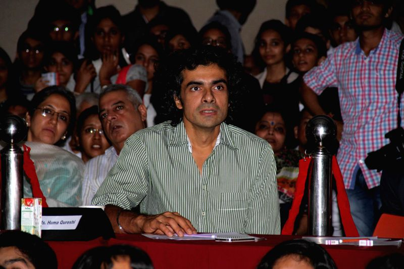Filmmaker Imtiaz Ali during Jamnabai Narsee School`s inter school festival, in Mumbai, on Aug. 24, 2014. - Imtiaz Ali