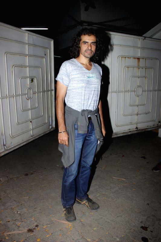 Filmmaker Imtiaz Ali during the screening of Tamil film Kaatru Veliyidai in Mumbai on April 23, 2017. - Imtiaz Ali