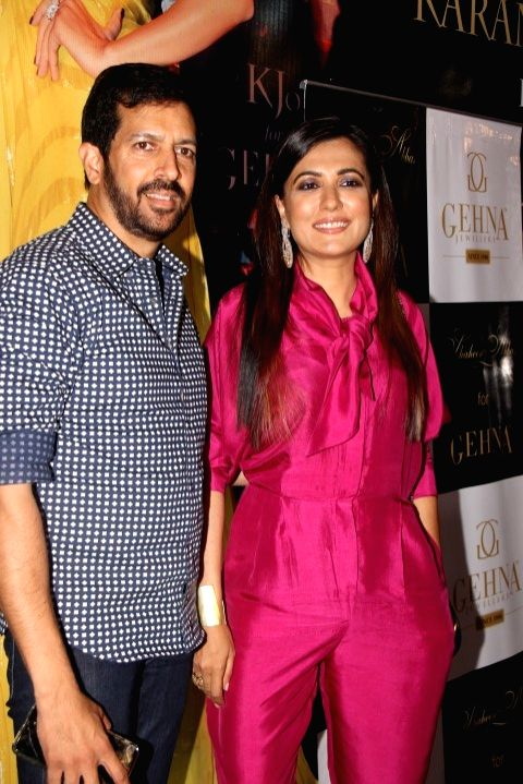 Filmmaker Kabir Khan along with his wife Mini Mathur during the preview of Miraki collection by Shaheen Abbas for Gehna Jewellers in Mumbai, on Nov 24, 2015. - Kabir Khan