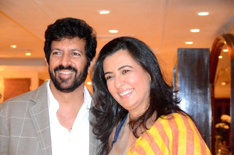 Filmmaker Kabir Khan along with his wife Mini Mathur during an Amazon programme in Mumbai on April 11, 2017. - Kabir Khan
